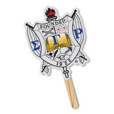 Sigma Gamma Rho Sorority Crest Hand Fan