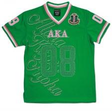 Alpha Kappa Alpha Green Studded Jersey