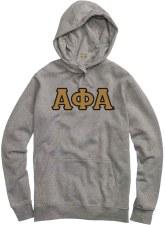 Alpha Phi Alpha Applique Letters Hoodie