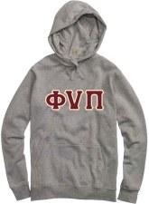 Phi Nu Pi Applique Letters Hoodie