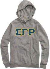 Sigma Gamma Rho Applique Letters Hoodie