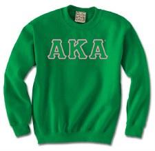 Alpha Kappa Alpha Applique Letters Crewneck Sweatshirt