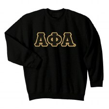 Alpha Phi Alpha Applique Letters Crewneck Sweatshirt