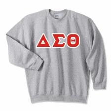 Delta Sigma Theta Applique Letters Crewneck Sweatshirt
