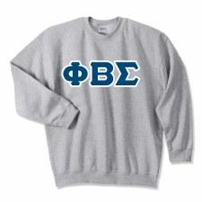 Phi Beta Sigma Applique Letters Crewneck Sweatshirt