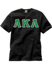 Alpha Kappa Alpha Applique Letters Tee