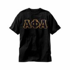 Alpha Phi Alpha Applique Letters Tee