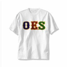 Order of the Eastern Star Applique Letters Tee
