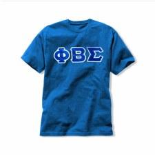 Phi Beta Sigma Applique Letters Tee