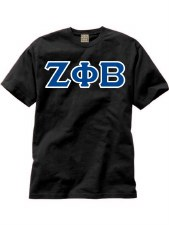 Zeta Phi Beta Applique Letters Tee