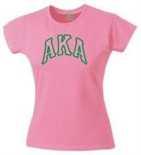 Alpha Kappa Alpha Arch Letters Applique