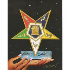 Order of the Eastern Star 5 Points of Light Portrait Print