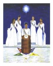 Order of the Eastern Star Sorority Pride Portrait Print