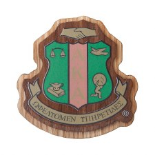 Alpha Kappa Alpha Wooden Raised Decal
