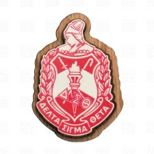 Delta Sigma Theta Wooden Raised Decal