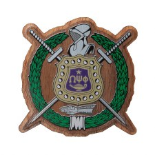 Omega Psi Phi Wooden Raised Decal