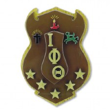 Iota Phi Theta Wooden Shield Wall Art