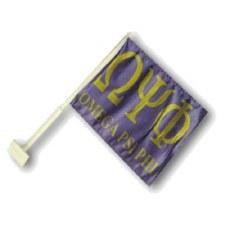 Omega Psi Phi Car Flag