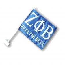 Zeta Phi Beta Car Flag