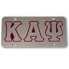 Kappa Alpha Psi Silver Background Car Tag