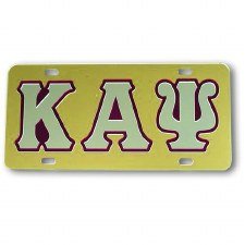 Kappa Alpha Psi Gold Background Car Tag