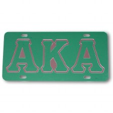 Alpha Kappa Alpha Green Mirror Car Tag