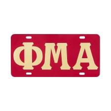 Phi Mu Alpha Color Mirror Car Tag