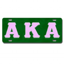 Alpha Kappa Alpha Old School Car Tag