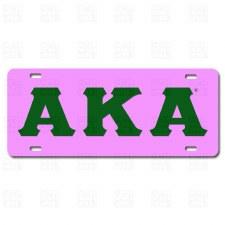 Alpha Kappa Alpha Old School Car Tag