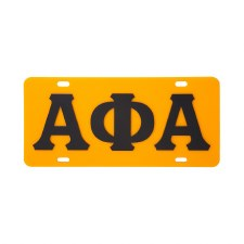 Alpha Phi Alpha Old School Car Tag