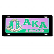 Alpha Kappa Alpha Domed Crest Car Tag