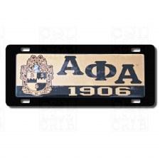 Alpha Phi Alpha Domed Crest Car Tag