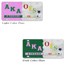 AKA & OES Split Founder Year Car Tag