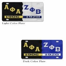 Alpha Phi  Alpha Split Founder Year Car Tag