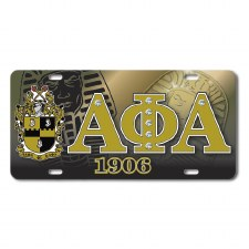 Alpha Phi Alpha Printed Crest Car Tag