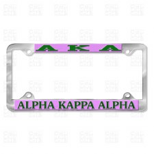Alpha Kappa Alpha Chrome Car Tag Frame