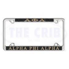 Alpha Phi Alpha Chrome Car Tag Frame