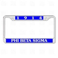 Phi Beta Sigma Chrome Car Tag Frame