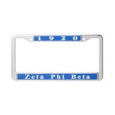 Zeta Phi Beta Chrome Car Tag Frame