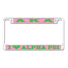 Alpha Kappa Alpha Chapter Love Car Tag Frame