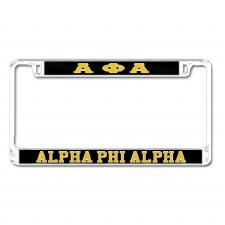 Alpha Phi Alpha Mirror Car Tag Frame