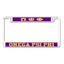 Omega Psi Phi Mirror Car Tag Frame