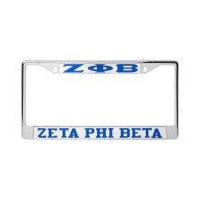 Zeta Phi Beta Mirror Car Tag Frame