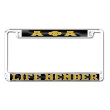 Alpha Phi Alpha Life Memeber Car Tag Frame