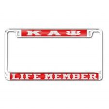 Kappa Alpha Psi Life Memeber Car Tag Frame