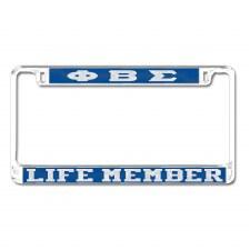 Phi Beta Sigma Life Member Tag Frame