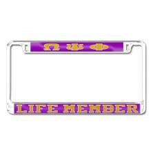 Omega Psi Phi Life Memeber Car Tag Frame