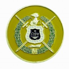 Omega Psi Phi Crest Car Emblem