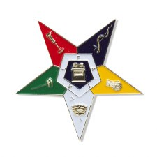 Order of the Eastern Star Die Cut Shield Car Emblem