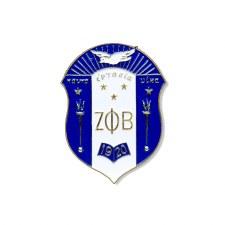 Zeta Phi Beta Die Cut Shield Car Emblem